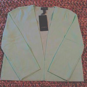 Jones NY No-Button Cardigan XS Opal NWT